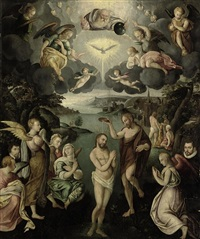 the baptism of christ by jan van scorel
