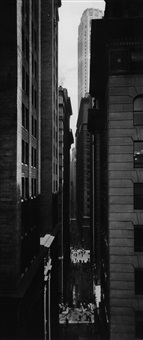 view of exchange place, new york by berenice abbott