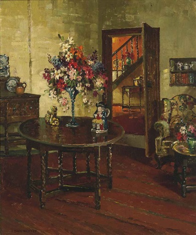 in the drawing room by herbert davis richter