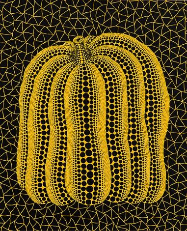 a pumpkint by yayoi kusama