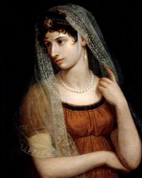 portrait of a lady (elisa bonaparte?) by pietro benvenuti