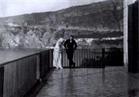 lillian gish und ronald colman während der filmaufnahmen zu: the white sister by james abbe