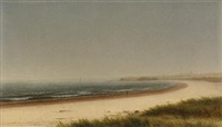 beach scene, newport by james augustus suydam