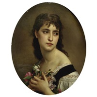 portrait of a young italian girl by borzoni
