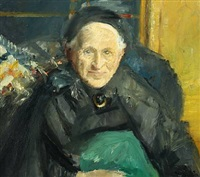 portrait of an elderly woman by michael peter ancher