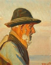 a fisherman from skagen in the sunlight by michael peter ancher