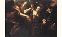 agar et ismaël sauvés par l'ange dans le désert by gioacchino assereto
