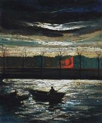 holdfényes vízpart - szajna-part (riverbank in moonlight) by marguerite de corini