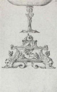 an elaborate casket and a tazza by ottavio strada