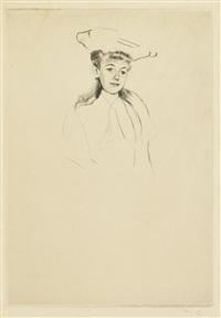 portrait sketch of mme fontveille (no. 2) by mary cassatt