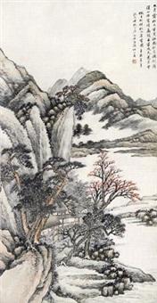 秋山草堂图 by wang kun