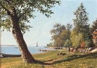 scenery from svendborgsund a quiet summer day by carl (jens erik c.) rasmussen