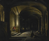 a prison interior with sleeping guards by hendrick van steenwyck the younger