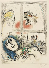 paris de la fenêtre (paris through the window) by marc chagall