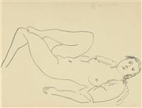 la blouse turque - étude de jambes by henri matisse