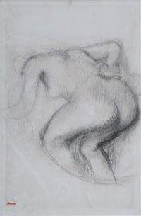 femme nue s'essuyant by edgar degas