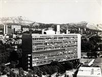 vues aériennes de la cité radieuse (3 works) by louis sciarli