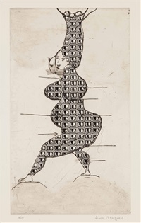 ste sebastienne (stamp of memories ii) by louise bourgeois