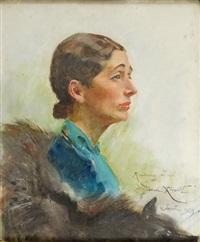 portret kobiety by woiciech (aldabert) ritter von kossak