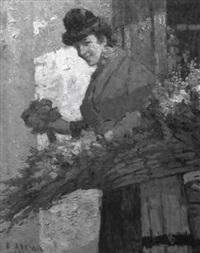 la marchande de fleurs by marius ernest joseph azema