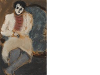 untitled (sitter) by milton avery