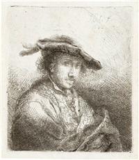 junger mann mit barett mit federn by ferdinand bol