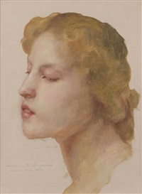portrait de jeune fille by william adolphe bouguereau