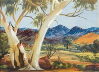 south macdonnell ranges, northern territory by albert namatjira