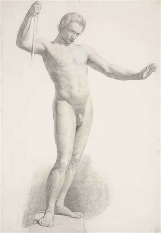 study of a male nude by sir john everett millais