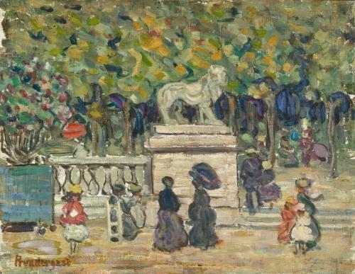 tuileries garden (in the tuileries gardens) by maurice brazil prendergast