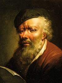 Christian <b>Wilhelm Ernst</b> Dietrich - christian-wilhelm-ernst-dietrich-portrait-eines-b%C3%A4rtigen-mannes,-einen-brief-lesend