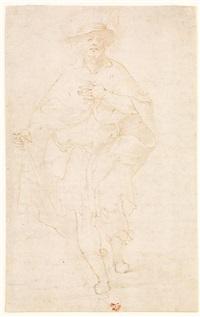 saint roch et étude d'enfant (recto-verso w/study) by friedrich sustris