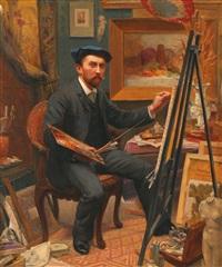 autoportrait dans l'atelier by jean dablin