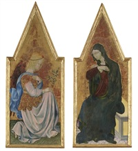 the archangel gabriel (+ the virgin annunciate; 2 works) by giovanni di paolo