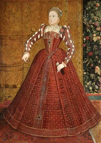 portrait of queen elizabeth i by steven van der meulen