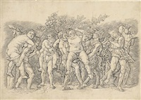 a bacchanal with silenus by andrea mantegna