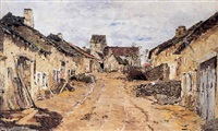 la rue du village by armand petitjean