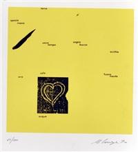 senza titolo (portfolio w/12 works) by ugo carrega