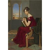 junge dame mit zeichengerät (girl with a drawing instrument, the countess thekla ludolf) by carl christian vogel von vogelstein