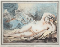 jupiter et danaé (after boucher) by louis marin bonnet