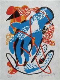 sur la pierre. poèmes et lithographies (bk w/12 works) by françoise gilot