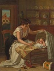 awakening baby by eugène françois de block