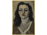 portrait of a woman by milton avery