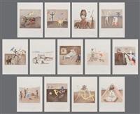 historia de don quichotte de la mancha and portfolio (17 works) by salvador dalí
