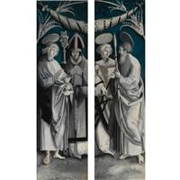 saint john the evangelist and saint erasmus (+ saint laurence and saint thomas; pair) by hans (suess von) kulmbach