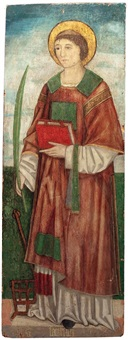 der hl. diakon und märtyrer laurentius by alvise vivarini