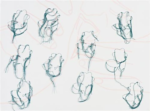 untitled fingers in pink by ghada amer