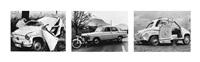 sammelnummer von drei fotografien: stansstad, 1967 stans, 1959 wolfenschiessen, 1957 (aus der serie karambolage) by arnold odermatt