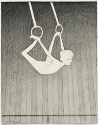 study for on the rings by john brack