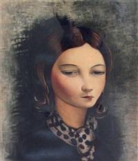 portrait de jeune fille by moïse kisling
